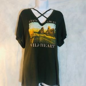 """Express One Eleven """"Wild Hearts"""" Top"""